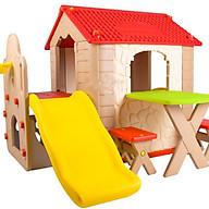 Nhà chơi cầu trượt kèm bàn ghế Hàn Quốc cho bé HN-777 thumbnail