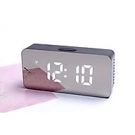 Đồng hồ led mặt gương - Đồng hồ để bàn kiêm đo nhiệt độ thumbnail