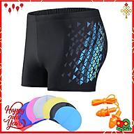 Quần bơi nam Boxer YESURE Diamon Chất liệu polyester Spandex cao cấp , chống thấm , nhanh khô form Fitness thời trang (Tặng kèm nón bơi + bịt tai silicon)- Hàng Chính Hãng thumbnail