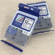 [ Bộ 2 cuộn] Nhãn TZ2-FX231 siêu dẻo - Chữ đen trên nền trắng 12mm - Hàng nhập khẩu thumbnail