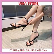 Giày Sandal cao gót nữ 5p xỏ ngón dây mảnh chữ V cá tính siêu hot - mã VNST005 thumbnail