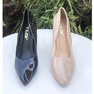Giày cao gót da bóng nữ thời trang phong cách 21561 thumbnail