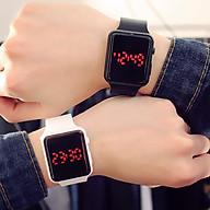 Đồng hồ thời trang nam nữ Led lh1 phong cách hàn quốc,dây silicon mềm mại,hiển thị giờ và ngày tháng. thumbnail