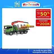 Đồ chơi dạng mô hình BRUDER theo tỷ lệ thu nhỏ 1 16 xe chở gỗ Scani BRU03524 thumbnail