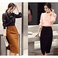 chân váy bút chì,chân váy công sở vạt chéo_608 thumbnail