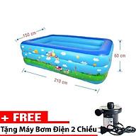 Bể Bơi Phao 3 tầng 1m5 - 1m8 - 2m1 - 2m5 - 2m9 - 3m66 cho gia đình Tặng Kèm Bơm thổi hút 2 chiều thumbnail