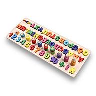 Đồ chơi giáo dục bảng số Tiếng Việt, giáo Cụ Montessori cho bé học đếm số, cột tính bậc thang và bảng chữ cái, đồ chơi gỗ giúp phát triển trí não giáo dục theo phương pháp montessori Tặng Kèm Móc Khóa 4Tech. thumbnail