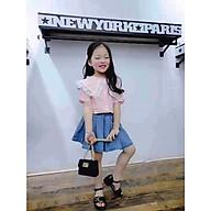 Set áo + chân váy jean Quảng Châu cho bé gái 02617-02619(3) thumbnail