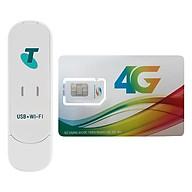 USB Phát Wifi 3G ZTE MF70 21.6Mbps + Sim Viettel 3G 4G (Khuyến Mãi 3GB Ngày) - Hàng Chính Hãng thumbnail