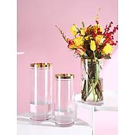 Bình hoa, Lọ hoa thủy tinh viền vàng sang trọng thumbnail