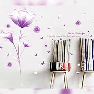 Decal dán tường trang trí phòng khách, tiệm cafe- Pha lê tím- mã sp DXL8050 thumbnail