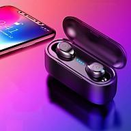 Tai nghe bluetooth không dây F9 True wireless Dock Sạc có Led Power Dislay - HÀNG CHÍNH HÃNG SINO thumbnail