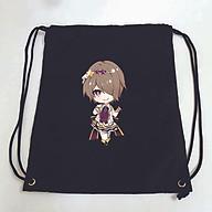 Balo dây rút đen in hình HONKAI IMPACT M2 game anime chibi túi rút đi học xinh xắn thời trang thumbnail