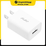 Adapter sạc USB 5W AVA+ DS016-BG - Hàng chính hãng thumbnail