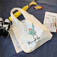 Túi tote vải canvas liền thân họa tiết đa dạng hot hit tặng quà xinh thumbnail