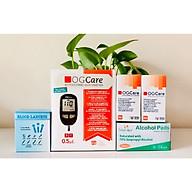 Combo Máy đo đường huyết OGCARE tặng kèm 100 Que+100 Kim lấy máu và 100 cồn sát khuẩn thumbnail