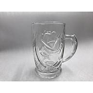 Bộ ly bia quai hoạ tiết hoa hồng ( 6 cái) thumbnail