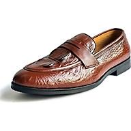 giày nam ba bò cao cấp thiết kế dập vân cá sấu - MN01 thumbnail