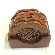 Bộ Lót Ly Chữ Phúc Gỗ Hương Light Wood thumbnail