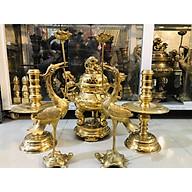 Bộ đỉnh đồng vàng trơn hàng truyền thống cao 45cm thumbnail