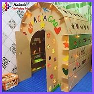 Nhà bìa carton cho bé chơi kích thước 95 x 87 x 85 cm thumbnail