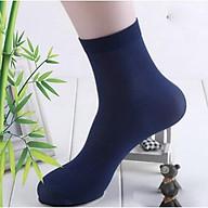 Combo gồm 10 đôi tất cổ cao sợi tre mềm mỏng thoáng khí khử mùi chống hôi chân thumbnail