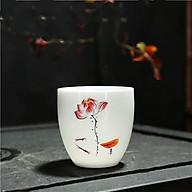 Combo 6 chén sứ uống trà cảnh đức 011 Sen Vàng thumbnail
