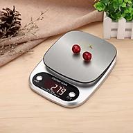 Cân điện tử cầm tay mini nhà bếp có đèn LED Model C305 (Tặng kèm Quạt mini cắm cổng USB vỏ thép) thumbnail