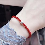 Vòng tay sợi chỉ đỏ mix Bi bạc 925 may mắn QMJ dây lụa xoắn, trang sức xinh xắn thumbnail