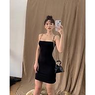 Váy body 2 dây sợi bún dáng ngắn thumbnail