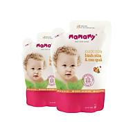 Combo 2 Túi bổ sung Nước rửa bình sữa & rau quả Mamamy 600 ml thumbnail