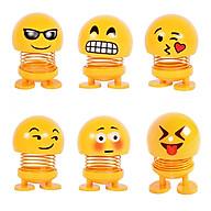 Combo 6 thú nhún Emoji lò xo ngộ nghĩnh 6 biểu cảm thumbnail