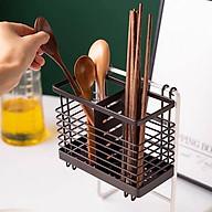 Ống cắm đũa 2 ngăn sắt sơn tĩnh điện có móc treo - ANTH331 thumbnail