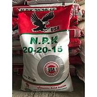 Phân bón NPK 20-20-15 + Humic Túi 1kg (Nhập khẩu Mỹ) - Phân bón cho Hoa hồng, cây cảnh, cây ăn quả, rau màu thumbnail