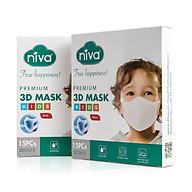 Combo 02 hộp khẩu trang Niva 3D trẻ em 15 chiếc (1 - 6 tuổi) thumbnail