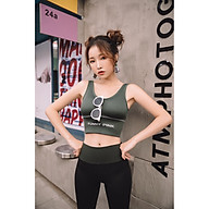 Áo Bra Nữ Tập Gym,Yoga, Fitness, Aerobic Có Đệm Lót Ngực Chống Sốc thumbnail