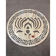 Tấm trang trí mẫu chữ Hoa Sen vàng (để ốp lưng bàn thờ treo tường (chất liệu gỗ MDF) mầu Vàng sồi tự nhiên - TL160 thumbnail
