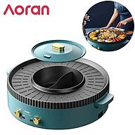 Bộ bếp nướng lẩu đa năng 2 trong 1 cao cấp Aoran R10, thiết kế khung tròn đẹp mặt, công suất 2200W, chất liệu nhôm đúc chống dính- Hàng chính hãng thumbnail