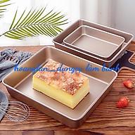 Khay,khuôn nướng bánh hình chữ nhật chống dính sâu lòng cao cấp màu vàng 34cm 24cm 5cm chiều cao thumbnail