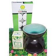 Combo đèn xông tinh dầu nến số 1 + tinh dầu sả chanh 10ml Bio Aroma tặng kèm 10 viên nến tealight (đèn giao màu ngẫu nhiên) thumbnail