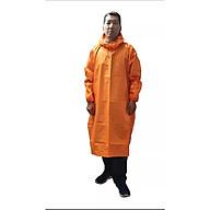 Áo mưa bít người vải dù tổ ong cao cấp freesize - Cam thumbnail