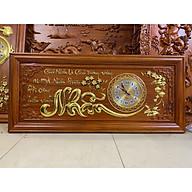 tranh đồng hồ gỗ hương đỏ - chữ Nhẫn thumbnail