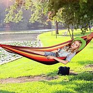 Võng ngủ du lịch võng dù lưới võng vải dù ngủ ngoài trời, du lịch dã ngoại phượt Hewolf hàng chính hãng - Đỏ - 200 100cm thumbnail