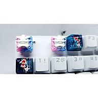Keycap Shishi clone tone trắng hồng xanh trang trí bàn phím cơ thumbnail