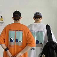 Áo thun tay lỡ nữ SAM CLO freesize phông form rộng dáng Unisex, mặc lớp, nhóm, cặp in chữ PANDA SUPPORT hình GẤU thumbnail