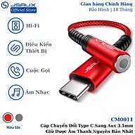 Hàng chính hãng - Cáp Chuyển Đổi Type C Sang Aux 3.5mm Cao Cấp CM0011 JSAUX - Bộ chuyển đổi Cho Macbook, Laptop, Điện thoại Samsung, Oppo, thumbnail