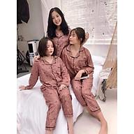 Bộ ngủ pijama lụa kate thái áo dài quần dài bộ mặc nhà Hanz.vn mềm mại dễ thương H1NN thumbnail