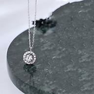 Dây Chuyền Bạc Dây Chuyền Bạc Nữ Hạt Tròn Đính Đá DB2426 Bảo Ngọc Jewelry thumbnail