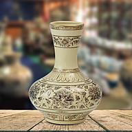 Bình hoa cúc quân tử gốm Chu Đậu thumbnail