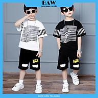 Set Đồ Bé Trai chất cotton mát mịn thấm hút mồ hôi tốt phong cách hàn quốc, thời trang trẻ em thương hiệu BAW mã 161-162 thumbnail